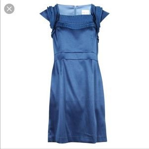 Reiss Lou Pleat dress, blue, NWT, sz 4